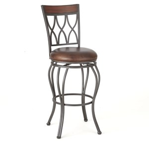 Swivel Barstool with Full Back