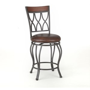 Swivel Counter Height Barstool with Full Back