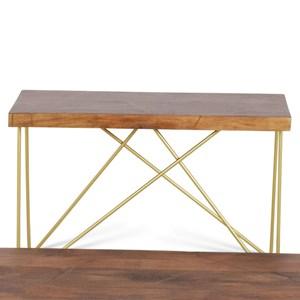 Contemporary Brass Inlay Sofa Table