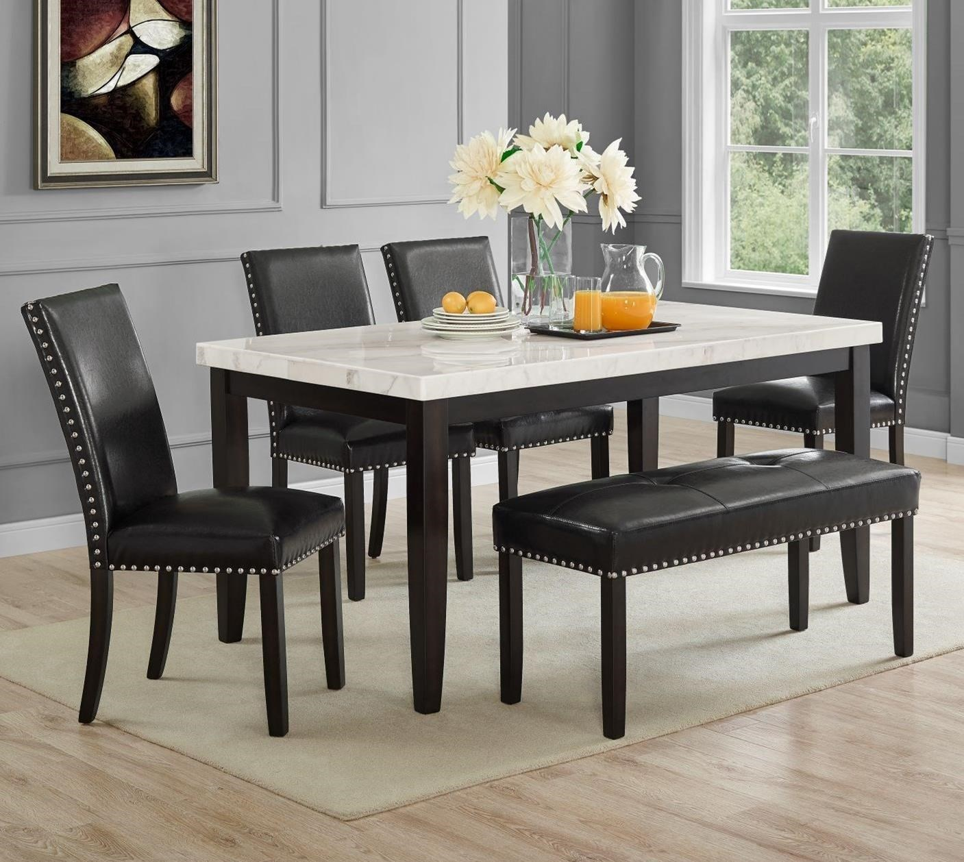 Westby Table and Chair Set with Bench by Steve Silver at Nassau Furniture and Mattress