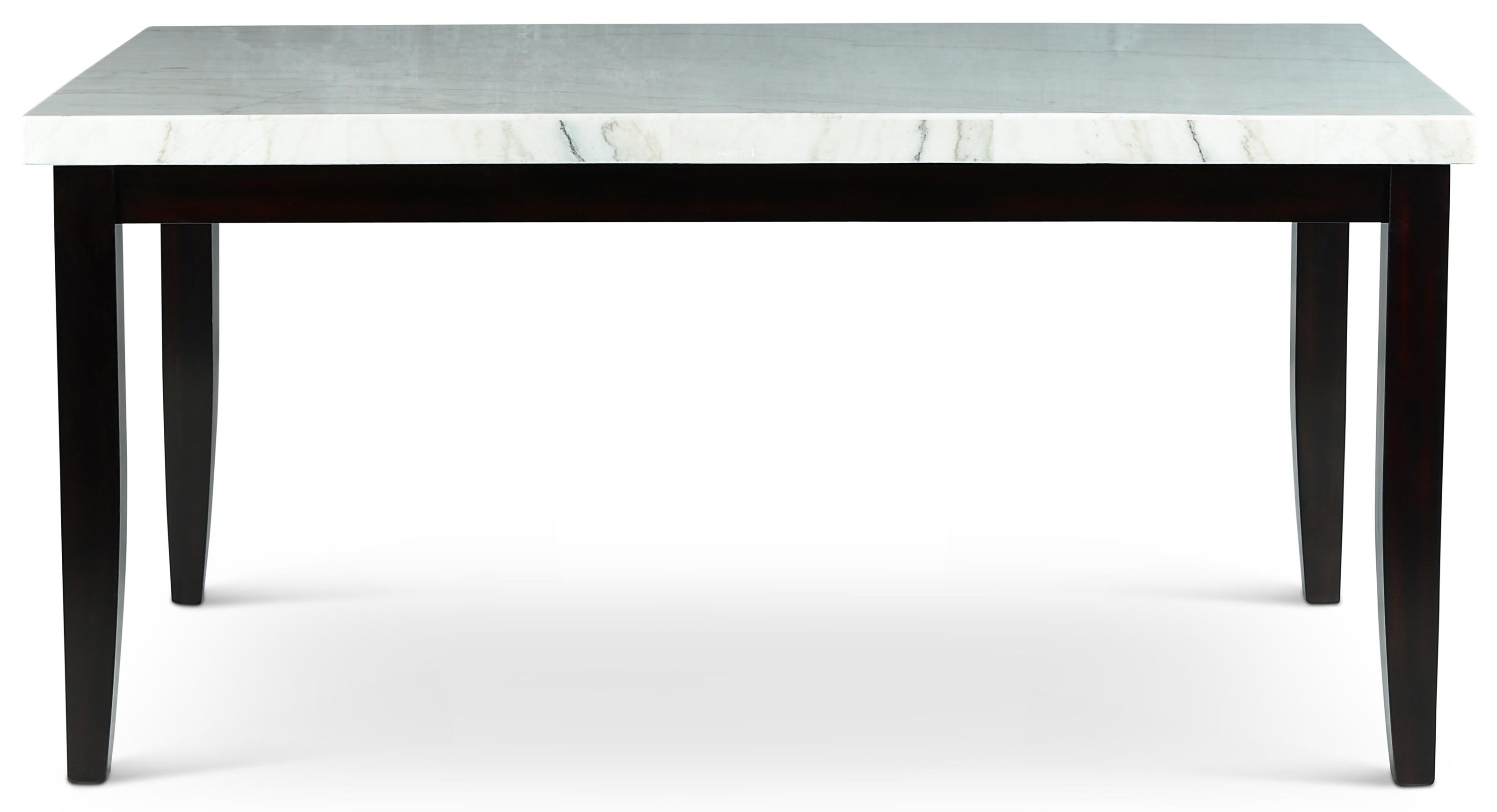 Westby White Marble Top Dining Table at Ruby Gordon Home