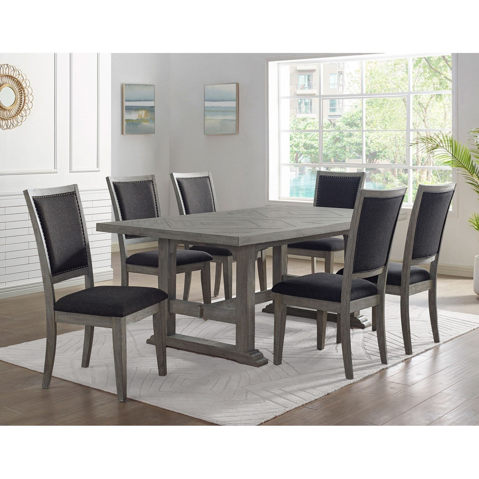 Whitford 7-Piece Dining Set by Vendor 3985 at Becker Furniture