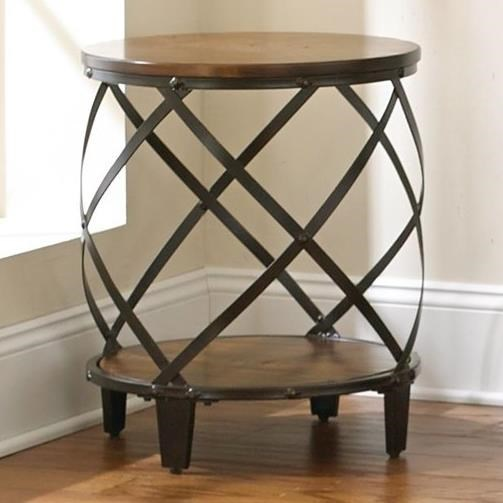 Winston  Round End Table by Steve Silver at Walker's Furniture