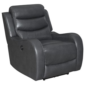 Power Recliner Chair with Channel Tufted Back