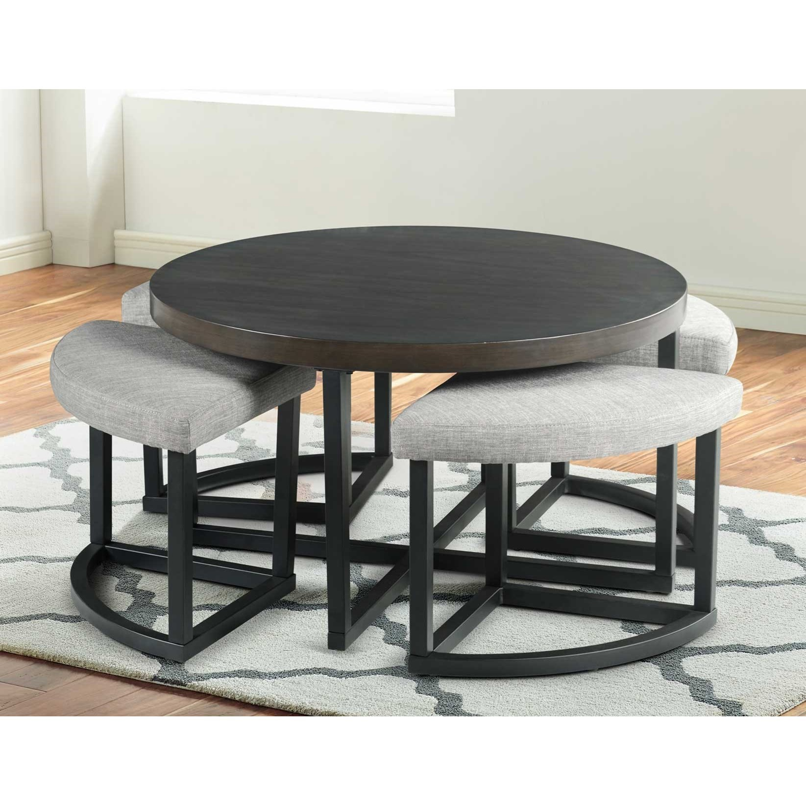 Yukon Coffee Table with Stools by Steve Silver at Walker's Furniture