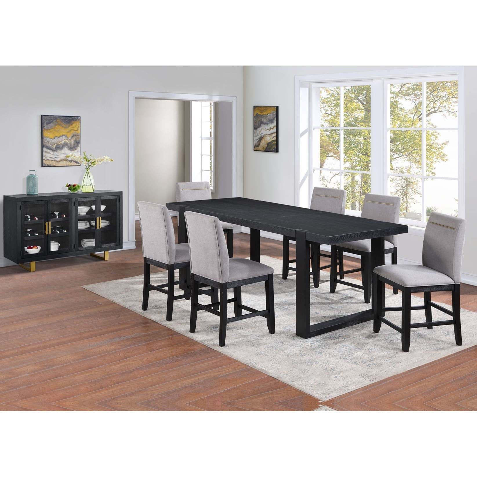Yves Formal Dining Room Group  by Steve Silver at Standard Furniture