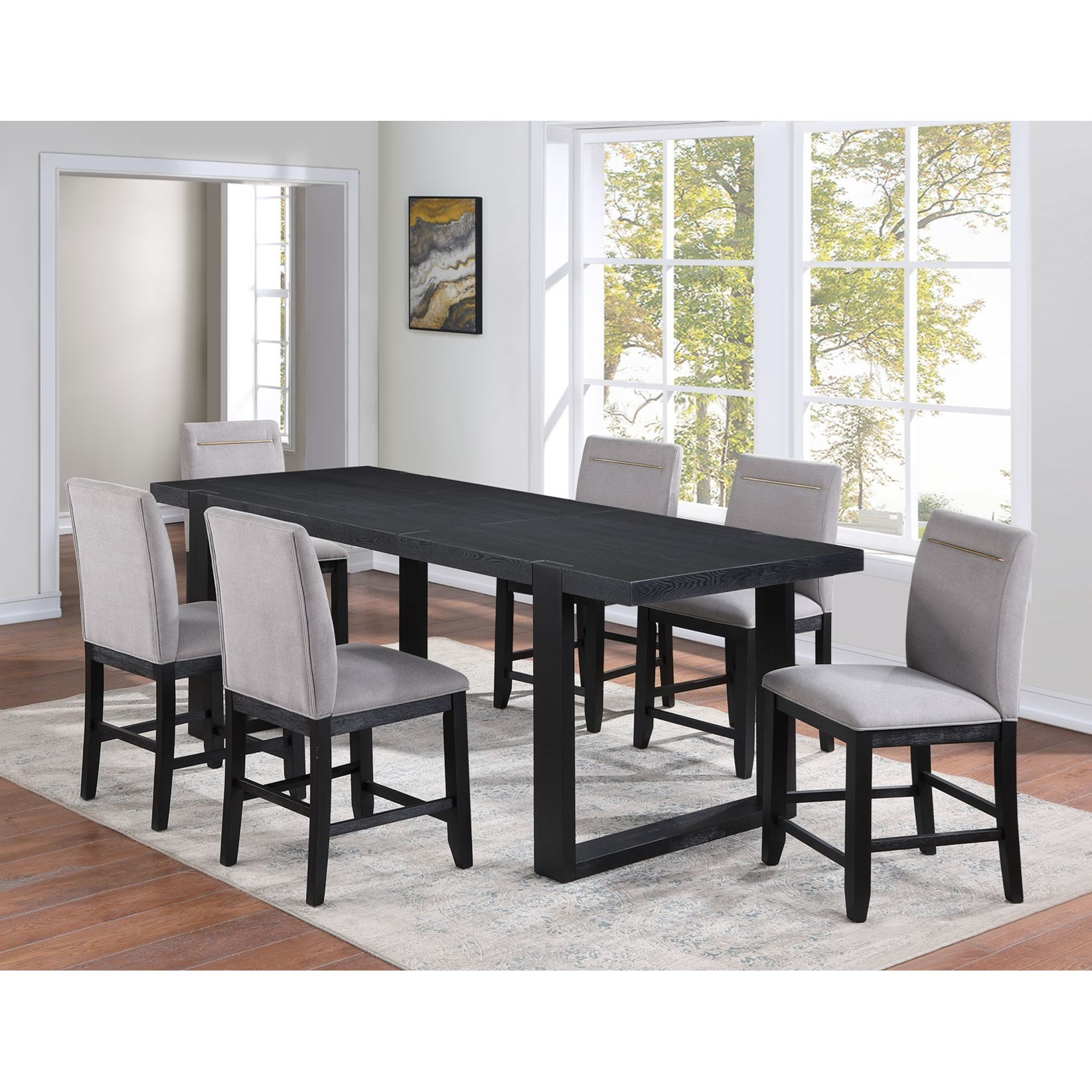 Yves 7-Piece Pub Table Set by Steve Silver at Northeast Factory Direct