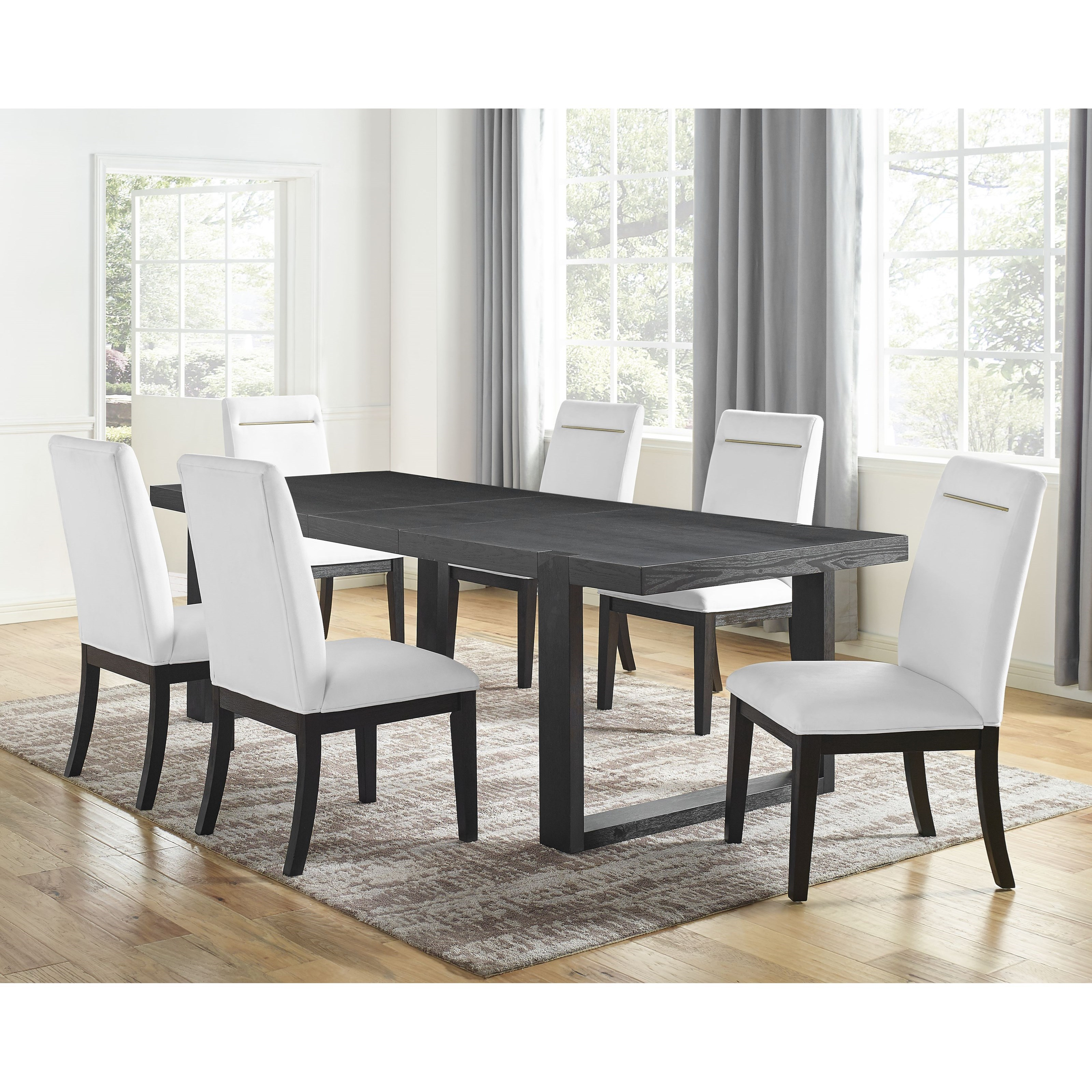 Yves 7-Piece Table and Chair Set by Steve Silver at Northeast Factory Direct