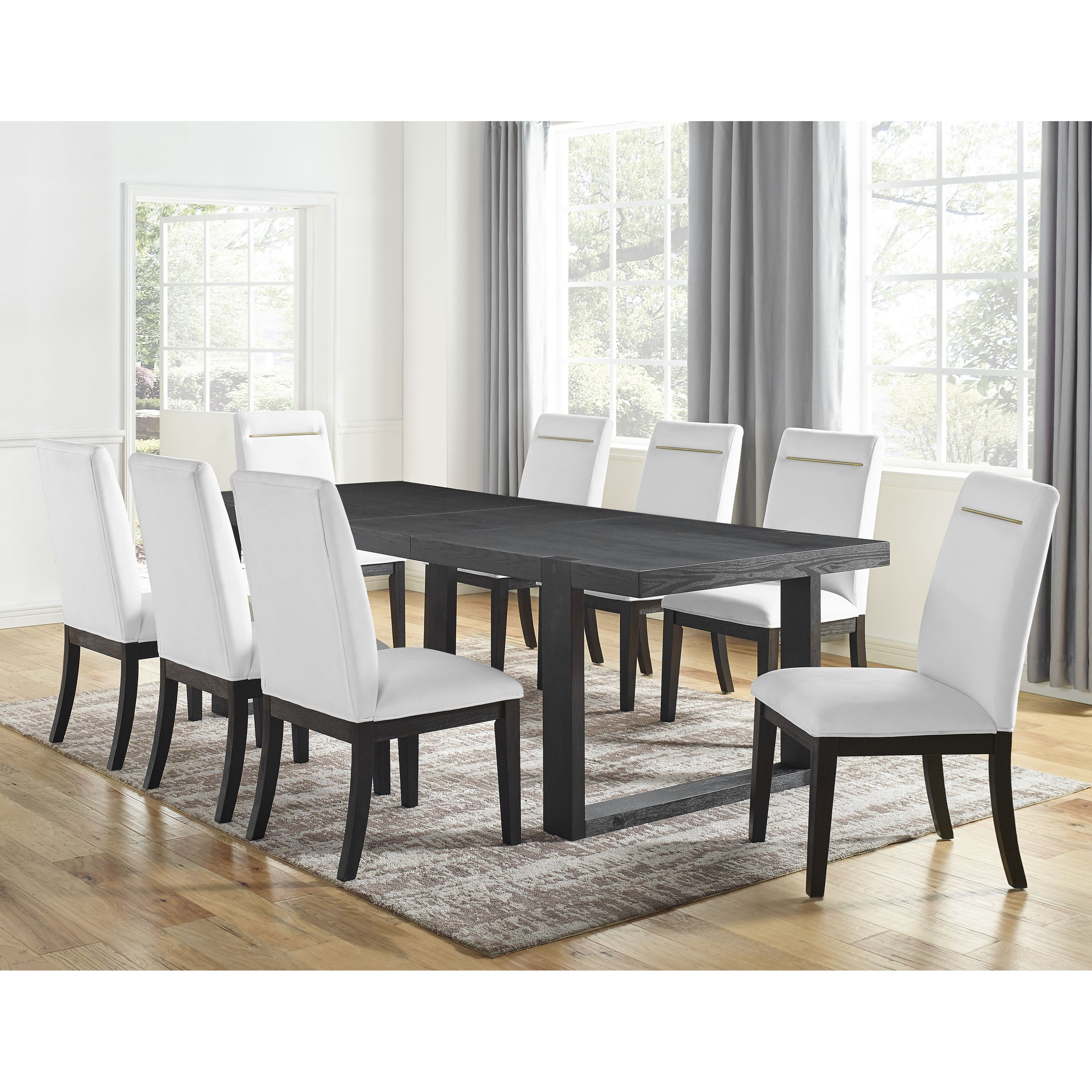 Yves 9-Piece Table and Chair Set by Star at EFO Furniture Outlet