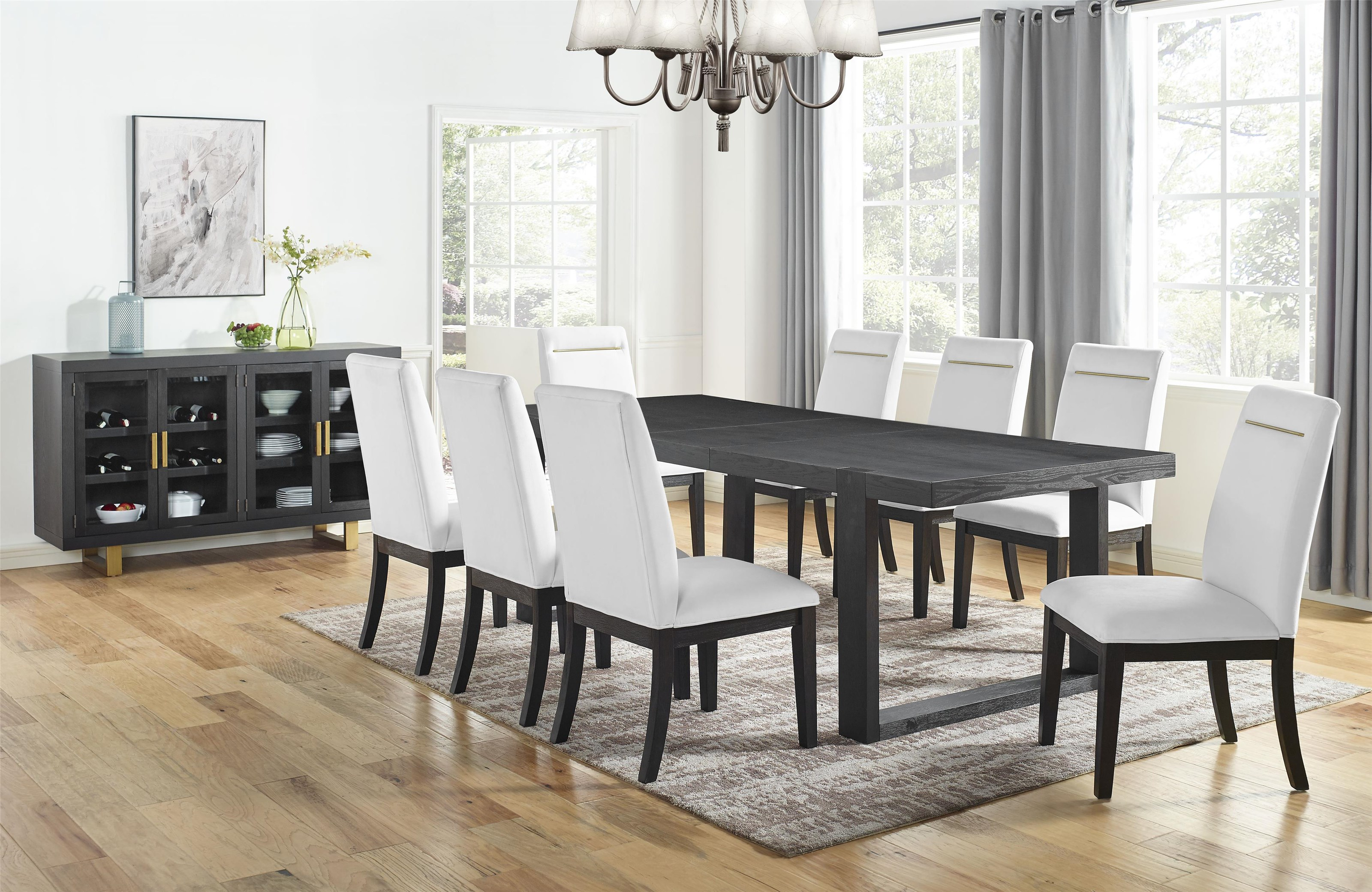Yves 5 Piece Dining Set by Steve Silver at Darvin Furniture