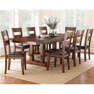 9 Piece Dining Set with Ladderback Chairs