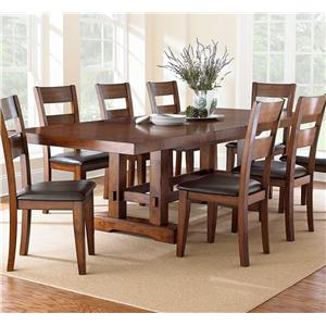 Trestle Dining Table with 2 Leaves