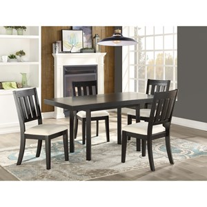 Transitional 5 Piece Dining and Chair Set