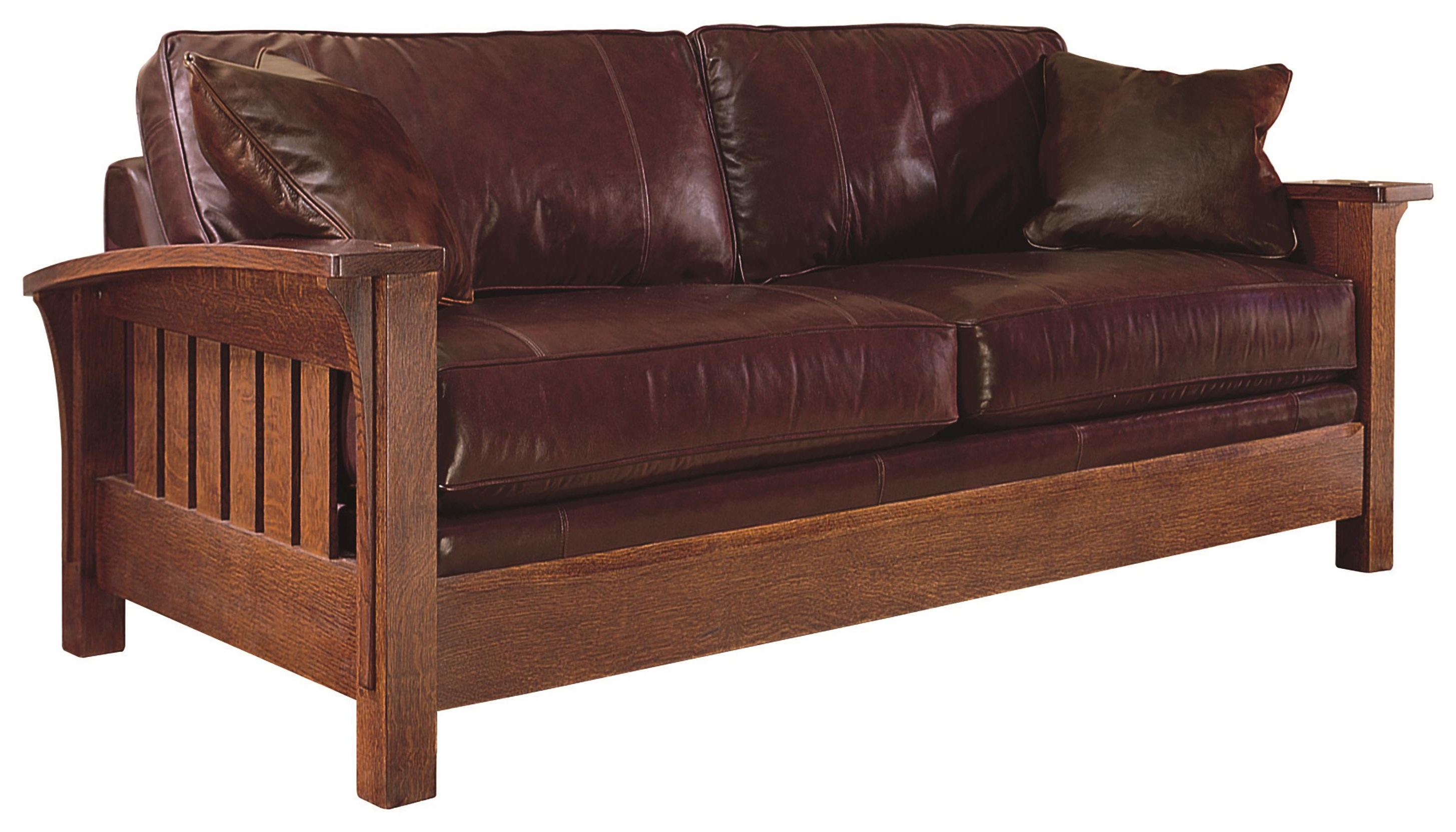 Cherry Mission Collection  Mission Sofa by Stickley at Williams & Kay