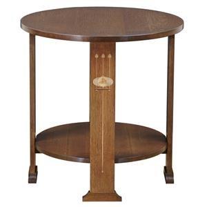 Harvey Ellis Round Lamp Table