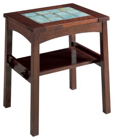 Oak Mission Classics Tile Top End Table by Stickley at Williams & Kay