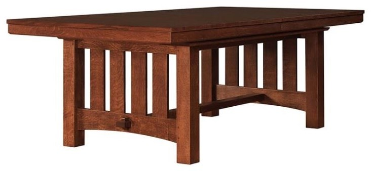 Oak Mission Classics Rectangular Dining Table with Leaves by Stickley at Williams & Kay