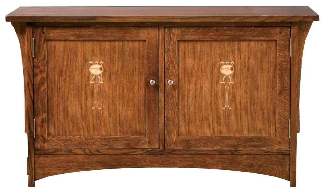 "Oak Mission Classics 50"" Harvey Ellis TV Console by Stickley at Williams & Kay"