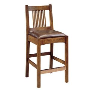 Oak Mission Classics Spindle Bar Stool by Stickley at Williams & Kay
