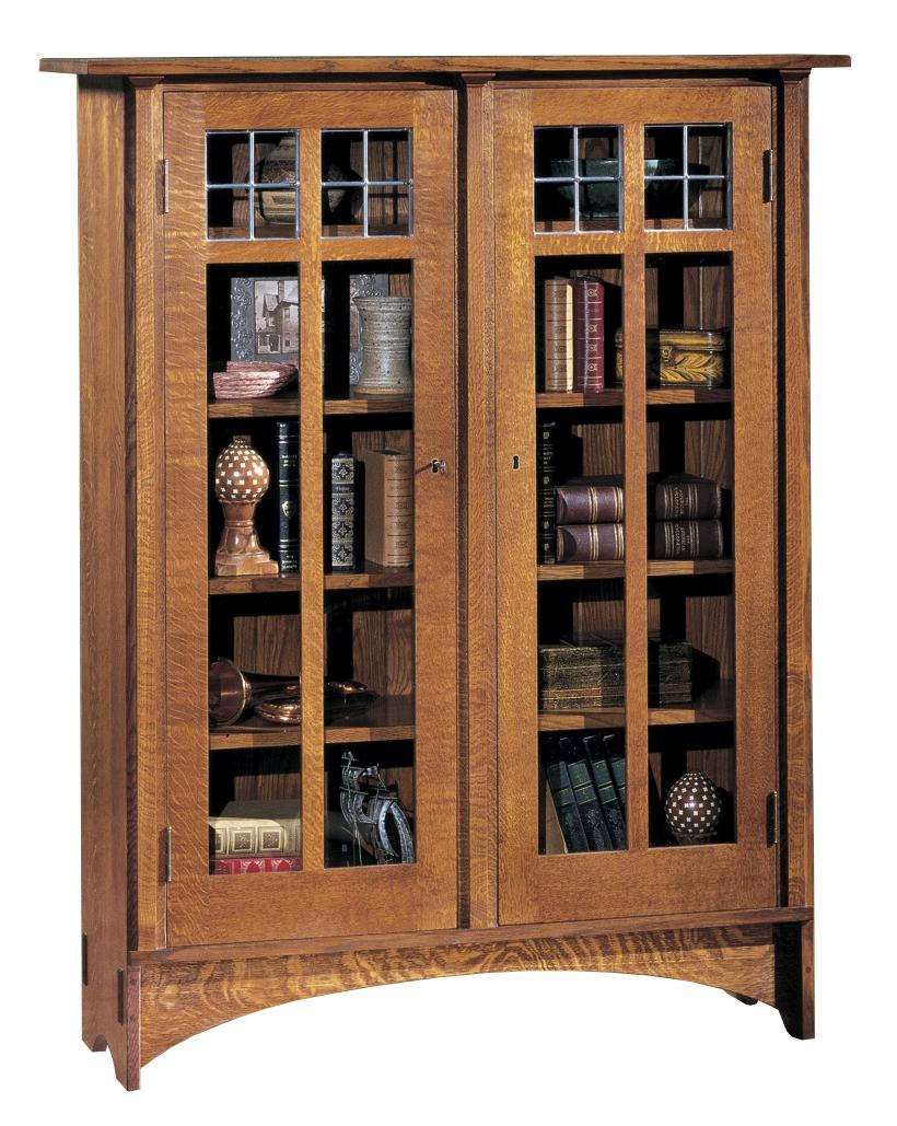 Oak Mission Classics Double Door Bookcase by Stickley at Williams & Kay