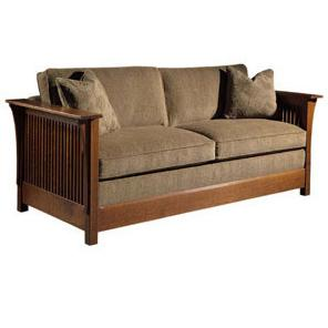 Oak Mission Classics Queen Size Fayetteville Sofa Bed  by Stickley at Williams & Kay
