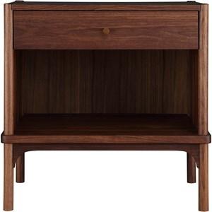 Open Solid Wood Nightstand