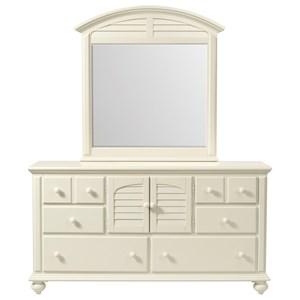 5-Drawer Door Dresser in Creamy White