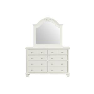 White Beveled Mirror