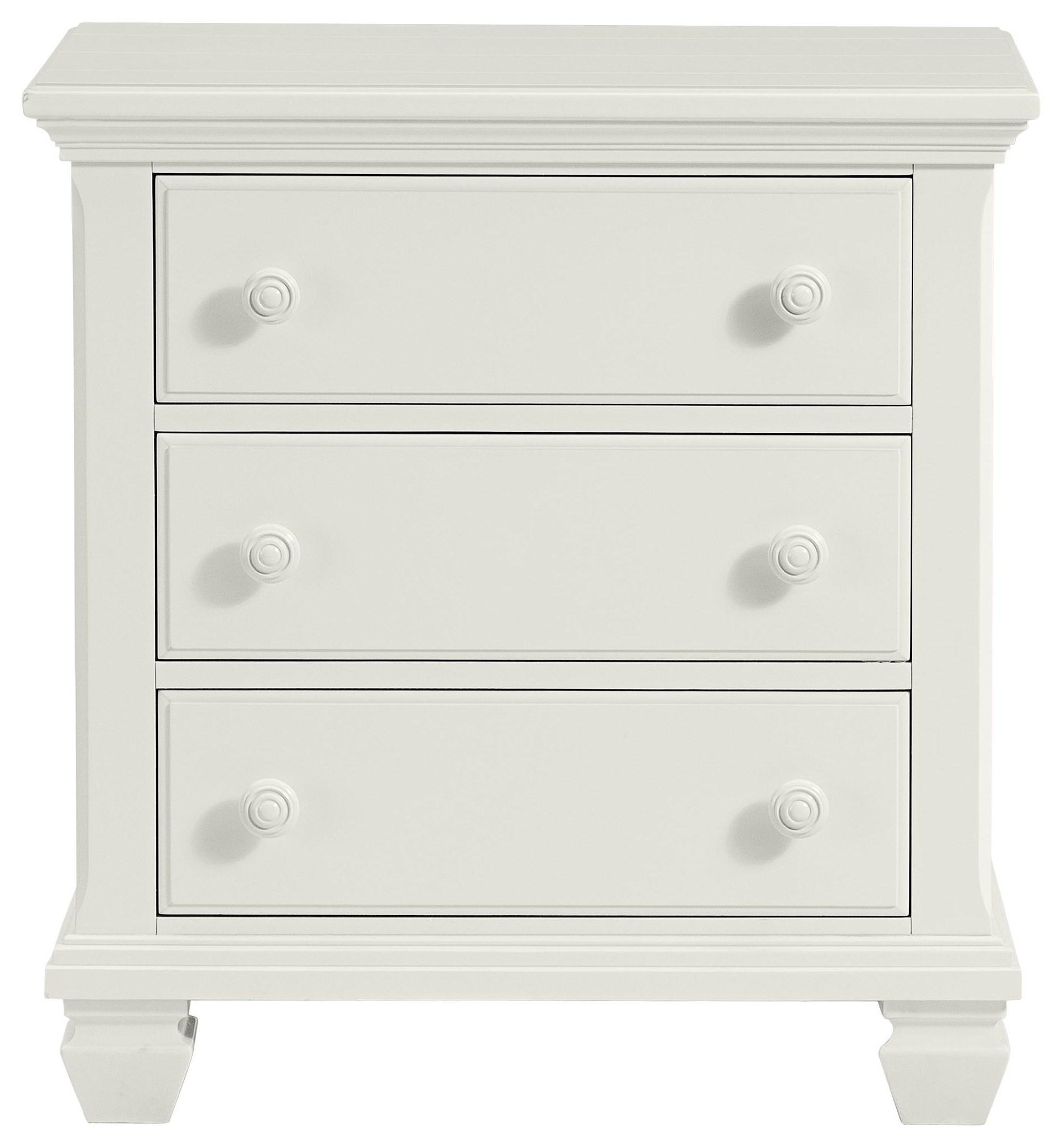 Harbortown White Nightstand by Stillwater Furniture at Baer's Furniture