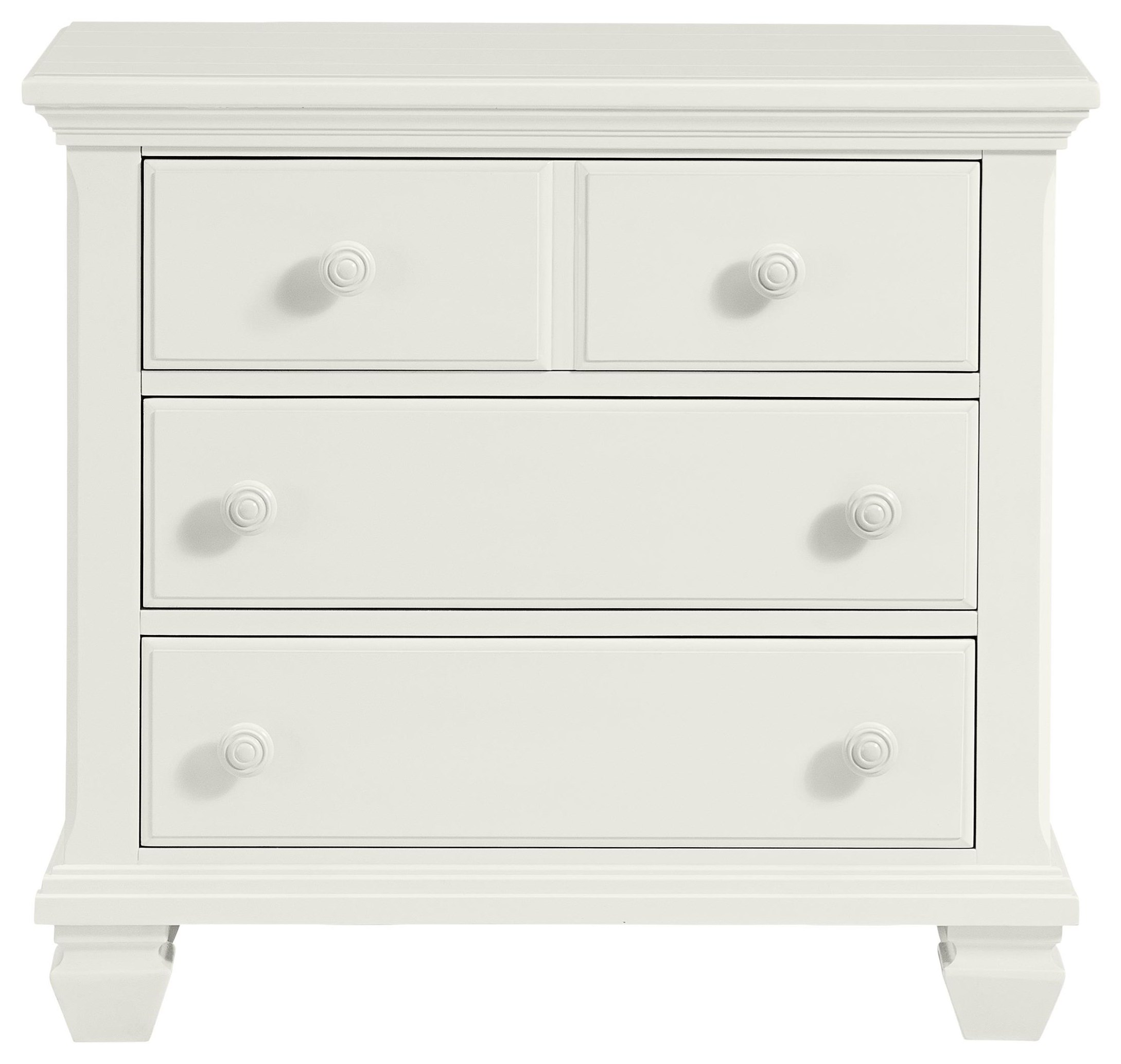Harbortown Three Drawer Nightstand with USB by Stillwater Furniture at Baer's Furniture