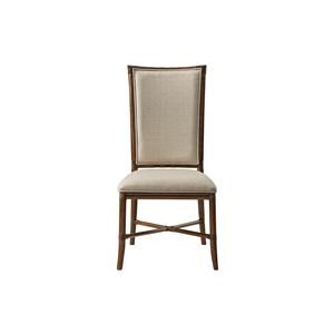 Upholstered Tropical Side Chair