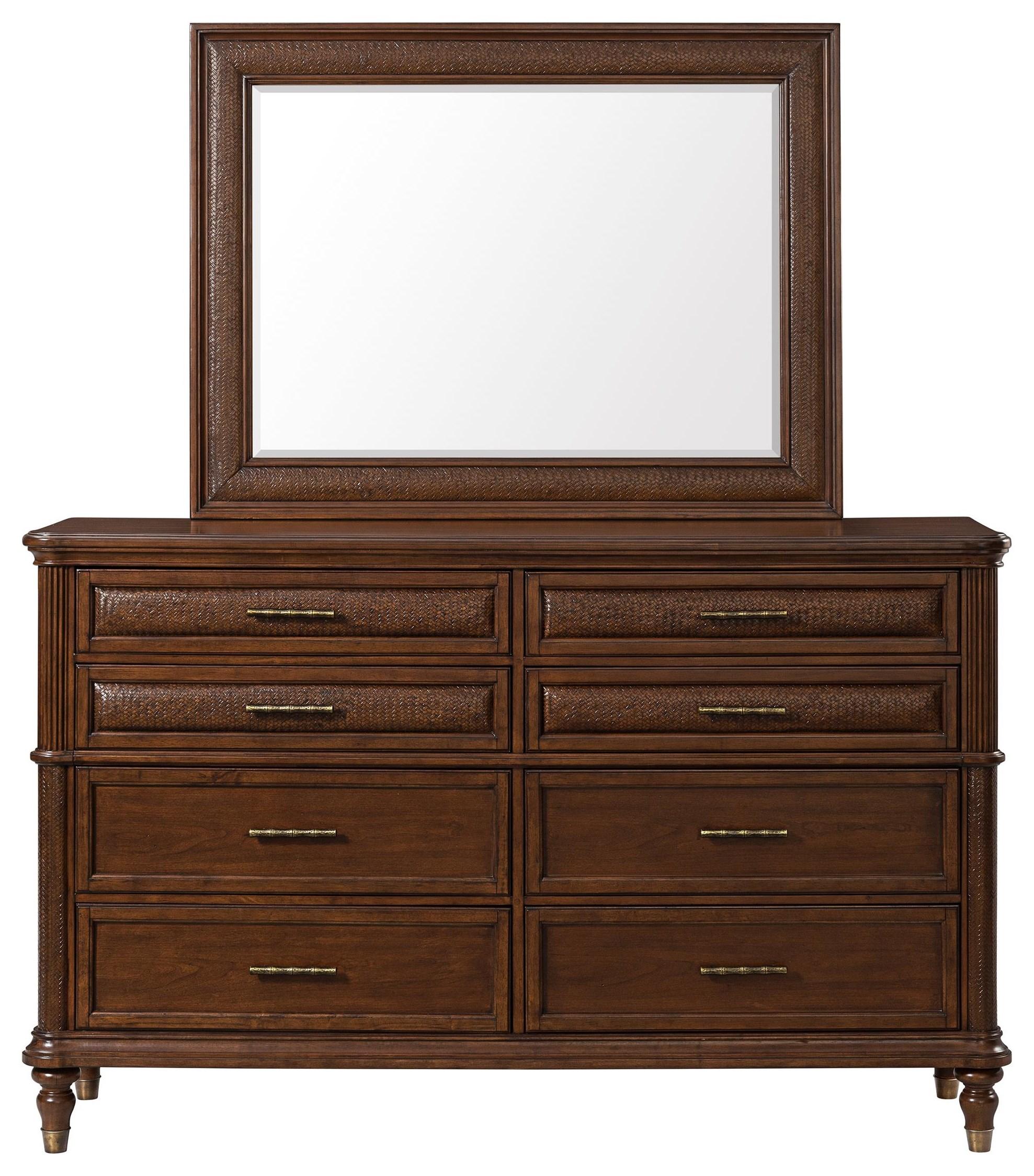 Tropical Breeze Beveled Mirror by Stillwater Furniture at Baer's Furniture