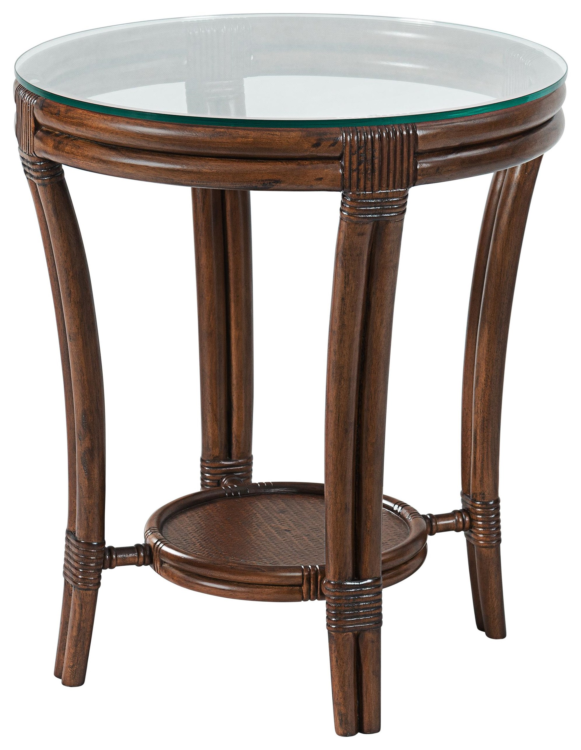Tropical Breeze Round End Table by Stillwater Furniture at Baer's Furniture
