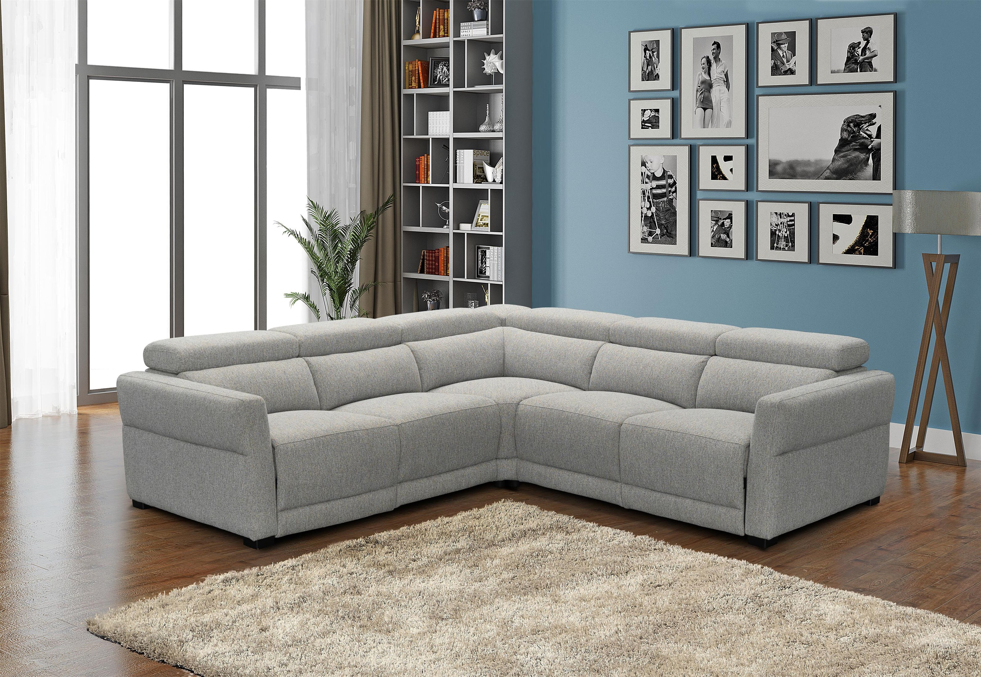 Inferno 3 PC Power Reclining Sectional Set by Stitch at Sam Levitz Furniture