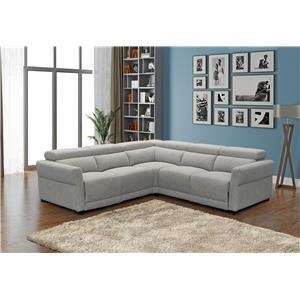 3 Piece 3 Seat Power Reclining Sectional and Recliner Set