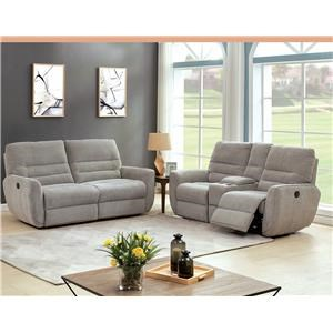 Power Headrest Sofa and Loveseat with Console Set