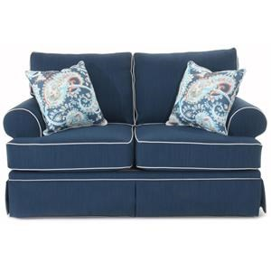 Traditional Loveseat with Skirted Base