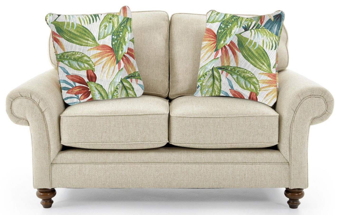 Larissa Rolled Arm Loveseat by Stone & Leigh Furniture at Baer's Furniture