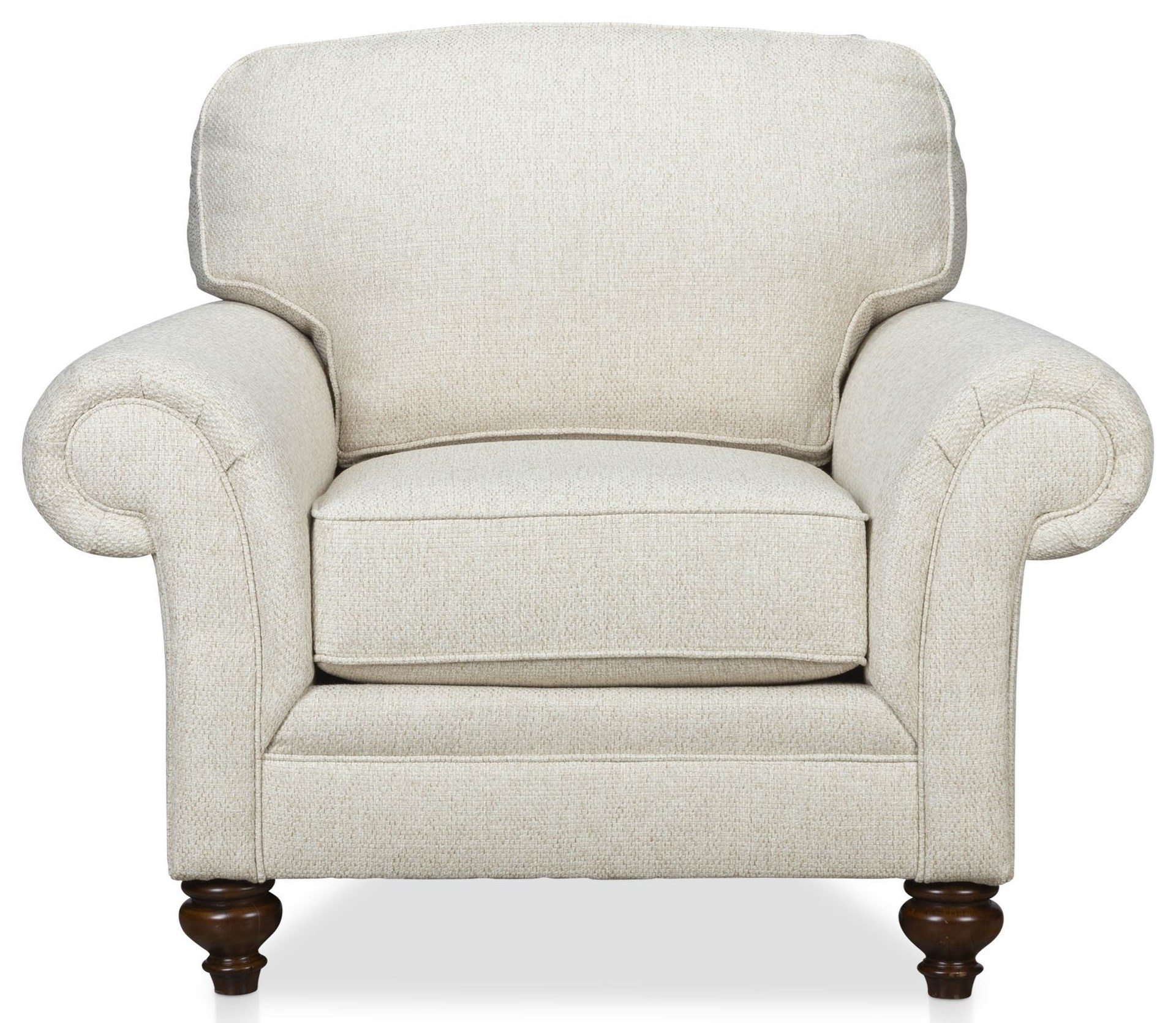 Larissa Rolled Arm Chair by Stone & Leigh Furniture at Baer's Furniture