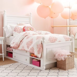 Stone & Leigh Furniture Smiling Hill Twin Panel Bed with Underbed Storage