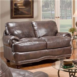 Stratford Olympus Leather Sectional Sofa Group With Chaise
