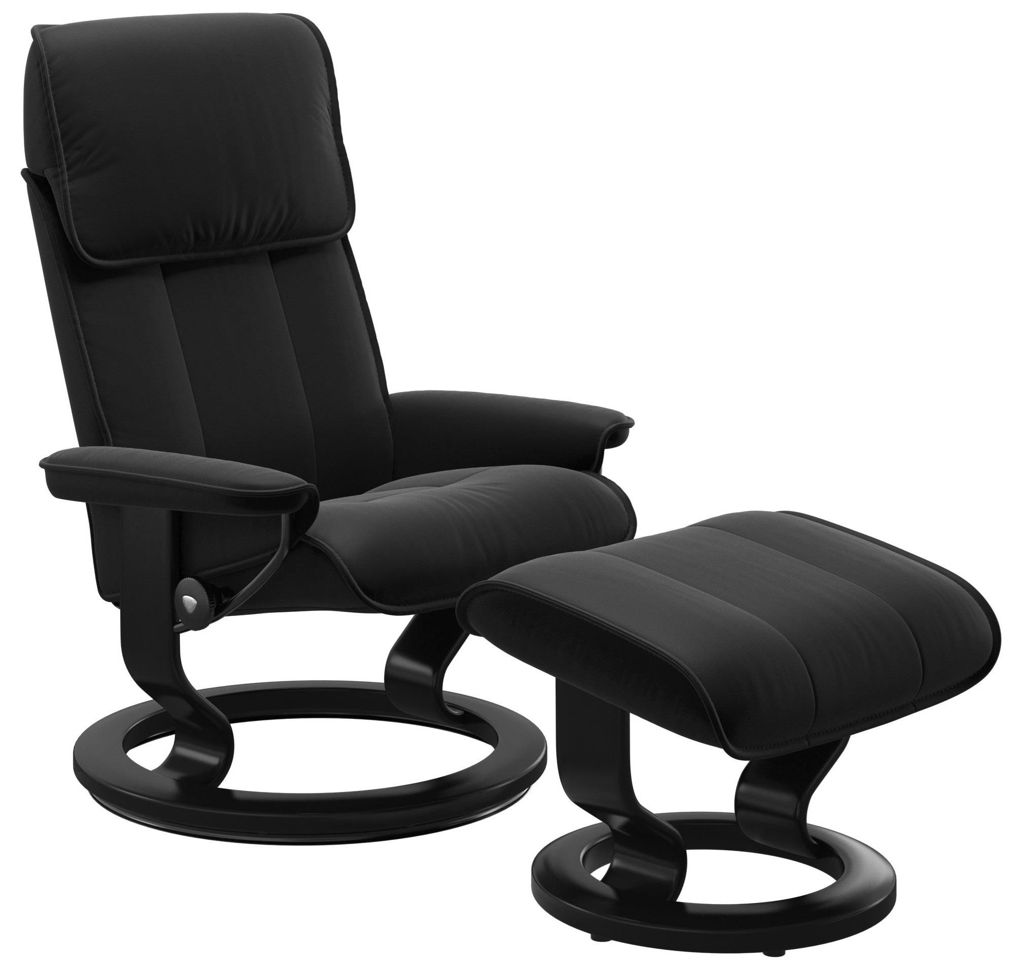 Admiral Large Reclining Chair and Ottoman by Stressless at Bennett's Furniture and Mattresses