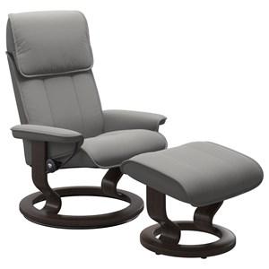 Medium Reclining Chair and Ottoman