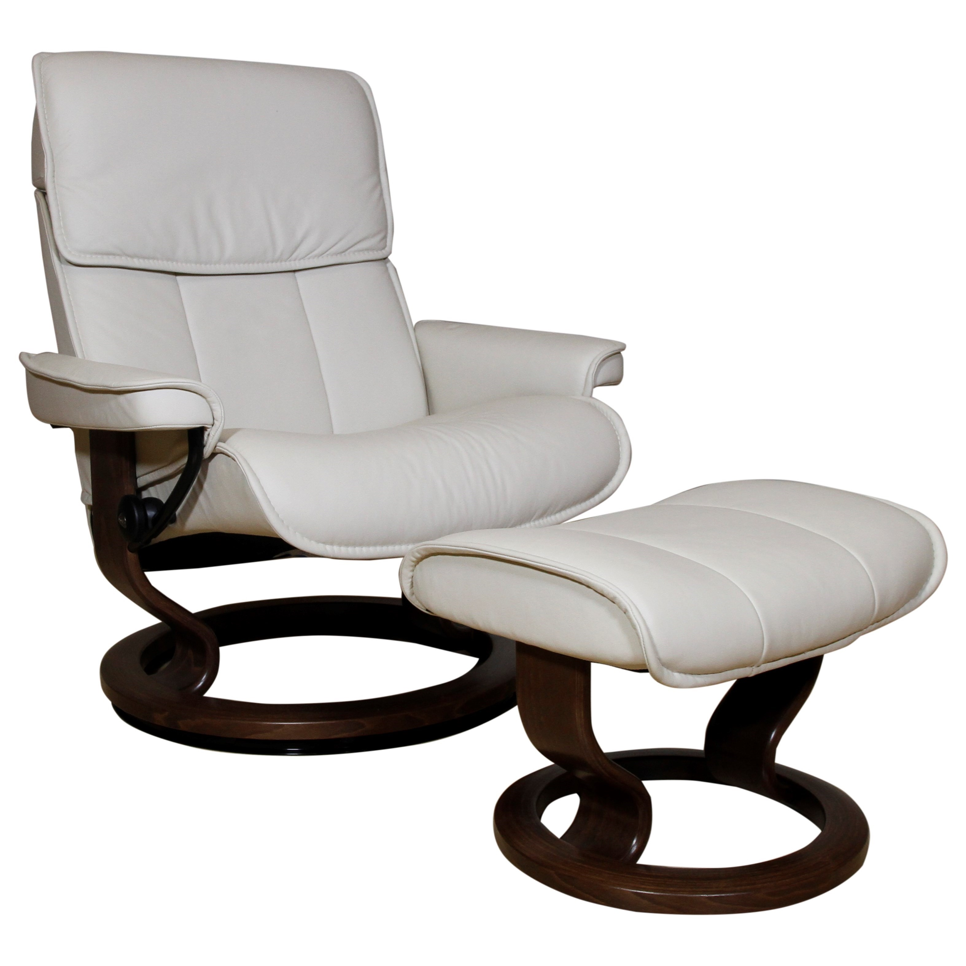 Admiral Medium Reclining Chair and Ottoman by Stressless at Bennett's Furniture and Mattresses