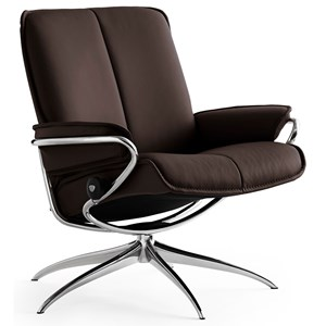 Low Back Recliner with High Base