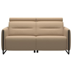 Power 2-Seat Sofa with Steel Arms