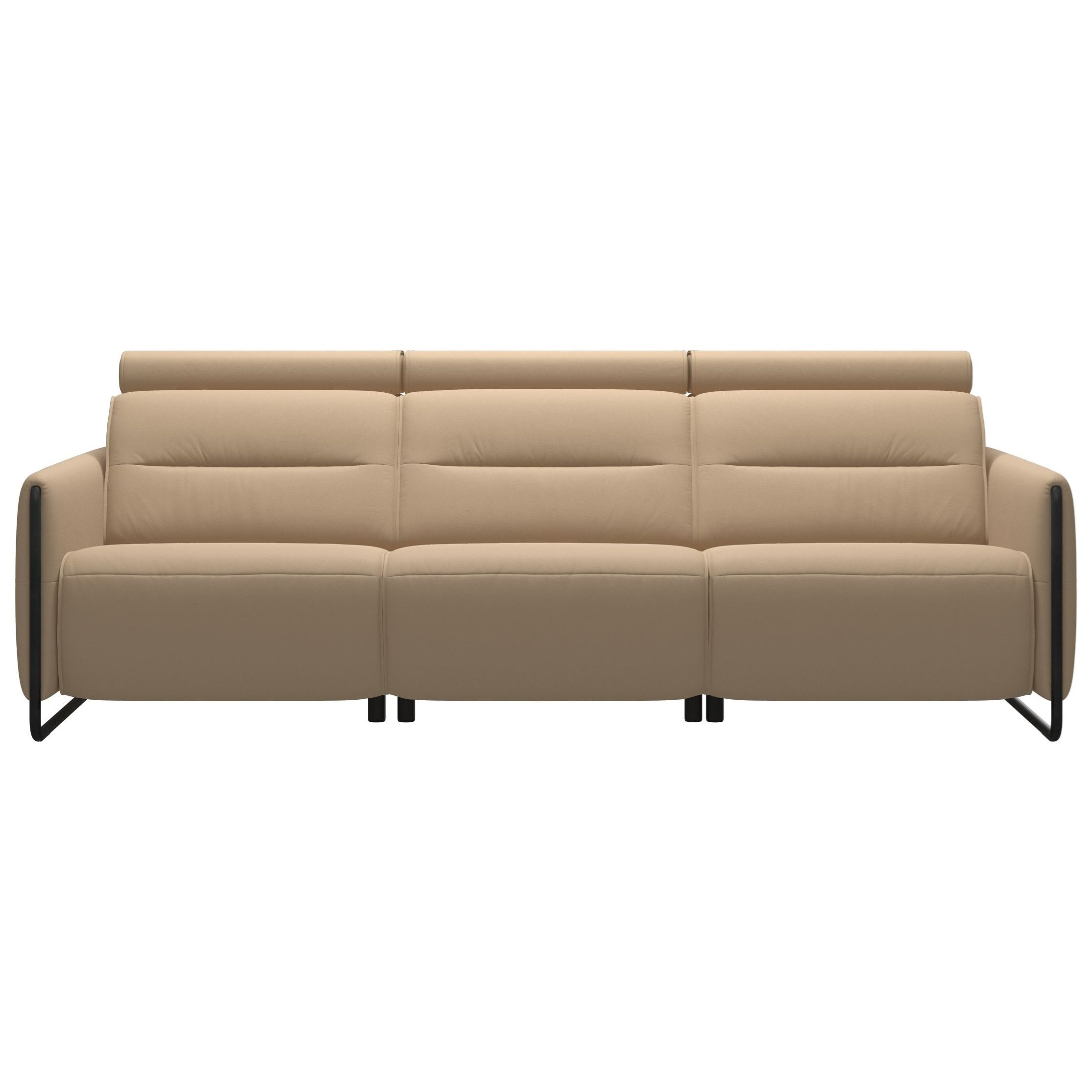 Emily Power 3-Seat Sofa with Steel Arms by Stressless at Fashion Furniture