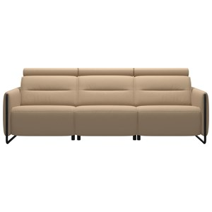Power 3-Seat Sofa with Steel Arms