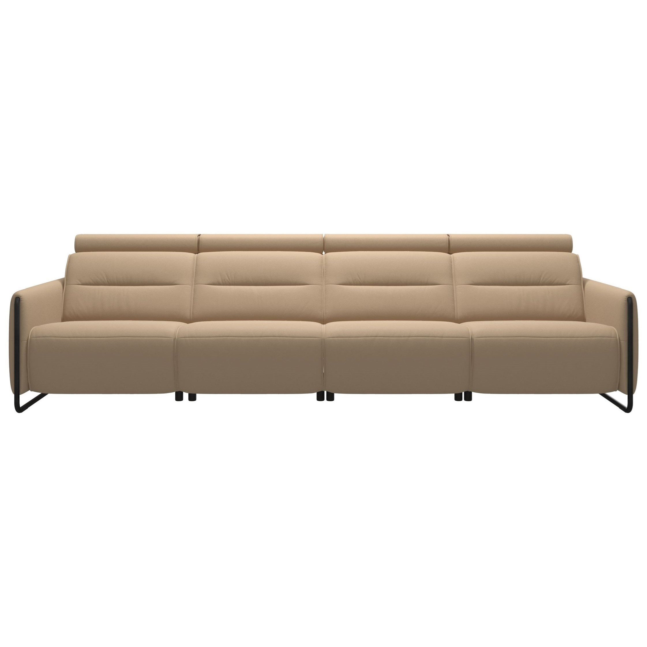 Emily Power 4-Seat Sofa with Steel Arms by Stressless at Jordan's Home Furnishings