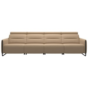 Power 4-Seat Sofa with Steel Arms